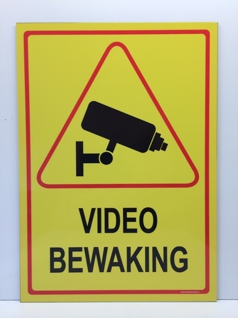 Sticker 'VIDEOBEWAKING' - GROOT - Art.nr. EF092S
