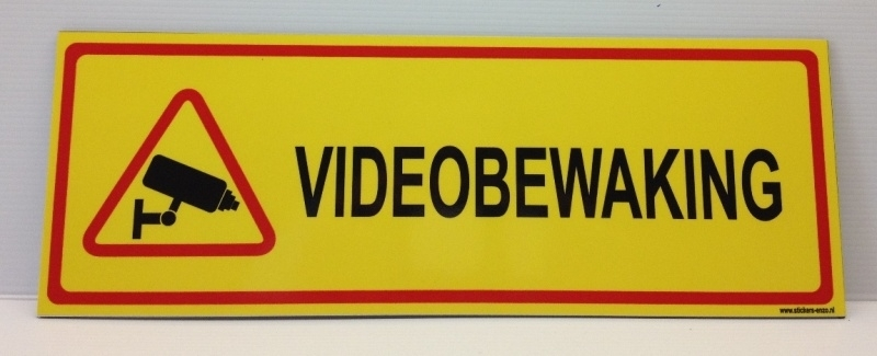 Sticker ' VIDEOBEWAKING' - Art.nr. EF082S
