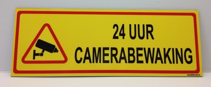 Bordje '24 UUR CAMERABEWAKING' - Art.nr. EF077B