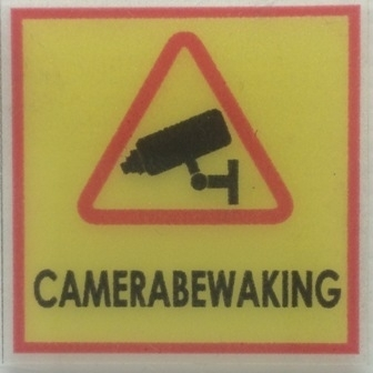 Camerabewaking MINI stickers (raamstickertjes) per 5 stuks - art.nr. EF097