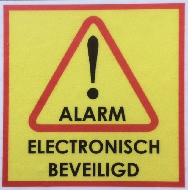 ALARM / ELECTRONISCH BEVEILIGD MINI stickers (raamstickertjes) per 5 stuks art.nr.0067