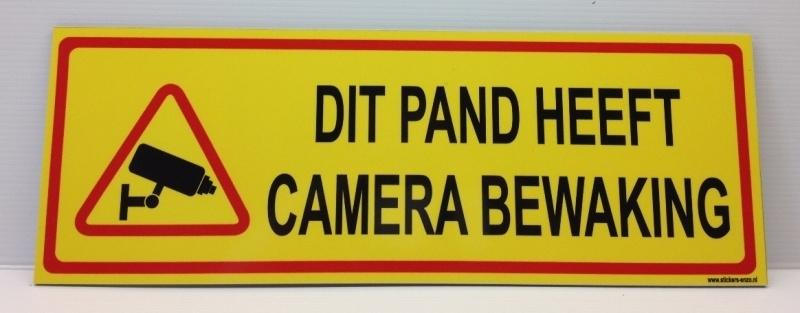 Bordje 'DIT PAND HEEFT CAMERABEWAKING' - Art.nr. EF078B