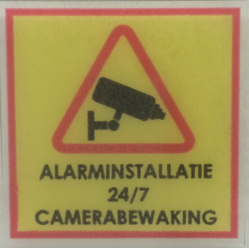 Camerabewaking / alarminstallatie MINI stickers (raamstickertjes) per 5 stuks - art.nr.0066