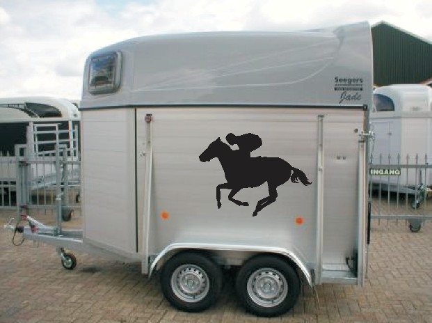 Horsetransfer Paardentrailer Stickers