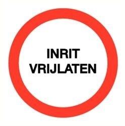 Sticker Inrit vrijlaten Ø 20cm (art.nr. 3232.B1)