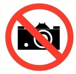 Sticker fotograferen verboden Ø 9 cm Art.nr.0148