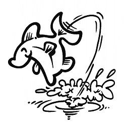 Sticker Vis Cartoon 1 - 25 x 25 cm