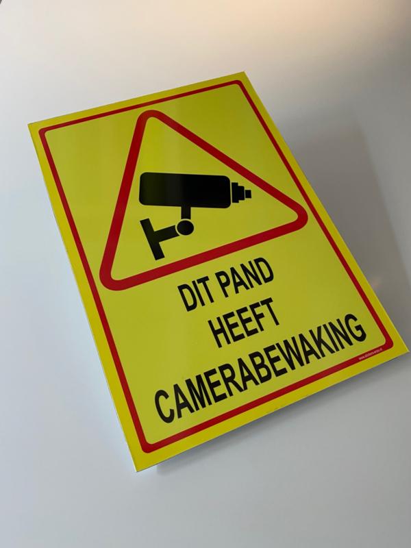 Bordje ' DIT PAND HEEFT CAMERABEWAKING' - GROOT - Art.nr.0054B