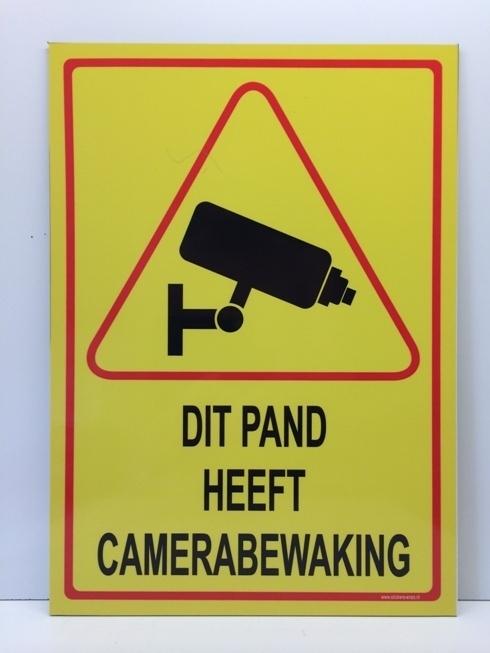 Bordje ' DIT PAND HEEFT CAMERABEWAKING' - GROOT - Art.nr. EF086B