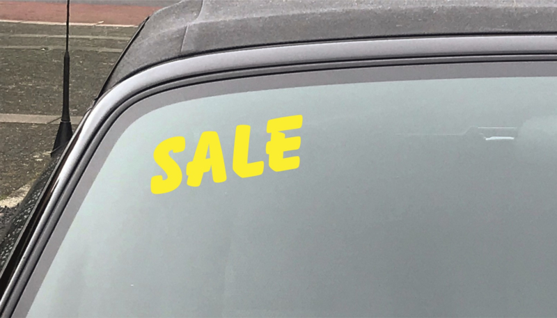 AUTOMOTIVE STICKERS 8 - SET VAN 5X TEKST 'SALE'