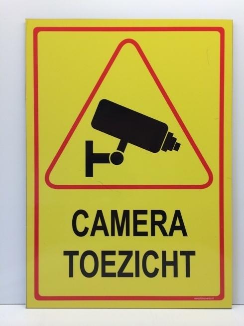 Sticker 'CAMERATOEZICHT' - GROOT - Art.nr. EF090S