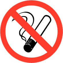 Pictogrambordje Roken verboden 16X16 cm - art.nr. PS0001-15B