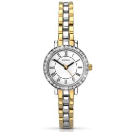 Zilver- en Goudkleurig Dames Horloge met Sierdiamanten van Sekonda