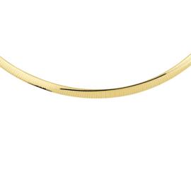 Geelgoudkleurig Omega Collier van Zilver