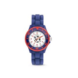 Donkerblauwe met Rood Voetbal Horloge van Colori Junior