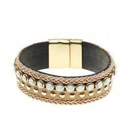 BIBA Bruin/Camel stoffen armband 5949ML