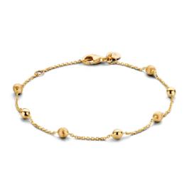 Excellent Jewelry Geelgouden Armband met Gouden Bolletjes