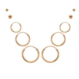 Karma Jewelry – Tiendelige Best Basics Earparty Set - Rosé