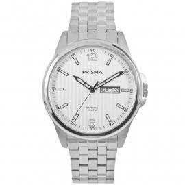 Prisma Heren P.1663 Horloge Edelstaal Saffierglas 10 ATM