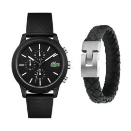 Lacoste Heren Horloge Gift Set + Gratis Armband t.w.v. € 39,95