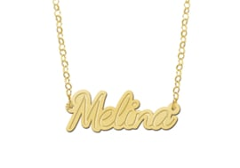Names4ever Melina Model Vergulde Naamketting van Names4ever