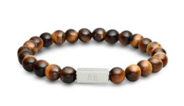 Essential Silver | Tijgeroog Kralen Armband van Blaauw Bloed