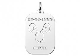 Names4ever Astrologie Stier Zilver Hanger ZHS002