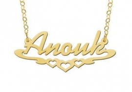 Names4ever Vergulde Anouk Naamketting