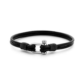 Zwart Lederen Armband van Frank 1967