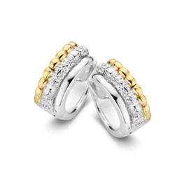 Excellent Jewelry Zilver met Gouden Creolen met Zirkonia's