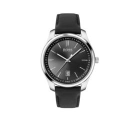 Hugo Boss Horloge Circuit Zilverkleurig Horloge met Zwarte Band van Boss