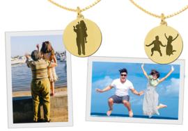 Gouden Foto Silhouet Hanger Names4ever