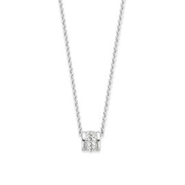 Excellent Jewelry Witgouden Collier met 0,12 crt. Briljant Hanger