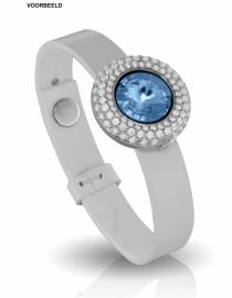 Witte Leren Armband / MY iMenso Slide-on 27-1171