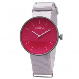 Prisma Horloge Unisex Simpel Roze Nato P.1251.34WG