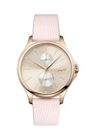 Lacoste Roségoudkleurig Kea Dames Horloge met Roze Lederen Horlogeband