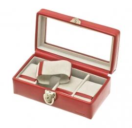 Horlogebox voor 4 horloges / Rood