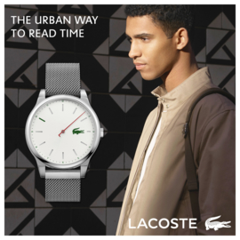 Lacoste Kyoto Zilverkleurig Heren Horloge met Milanese Schakelband
