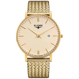 Goudkleurig Zelos Heren Horloge van Elysee