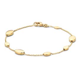 Excellent Jewelry Geelgouden Armband met Ovaaltjes