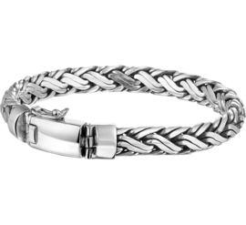Vossestaart / Palmier 8 mm Zilveren Armband | Lengte 20 cm
