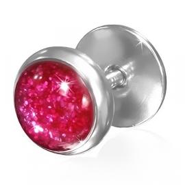 Roze Glitters Fake Piercing