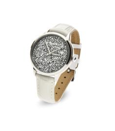 Spark Horloge met Witte Swarovski Kristallen