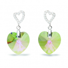 Tender Heart Groene Swarovski Oorbellen van Spark Jewelry
