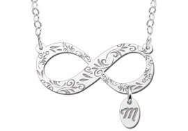 Names4ever Zilveren Infinity Hanger met Letterhanger