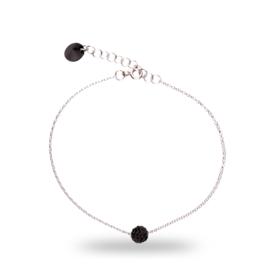 Zwarte Pavé Swarovski Armband van Spark Jewelry