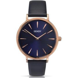 Blauw Seksy Sekonda Roségoudkleurig Dames Horloge