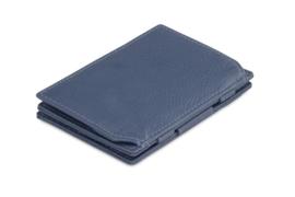 Navy Blauwe Nappa Magic Coin Wallet Portemonnee van Essenziale Garzini