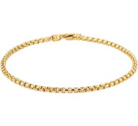 Stevige Gouden Venetiaanse Schakelarmband voor Dames