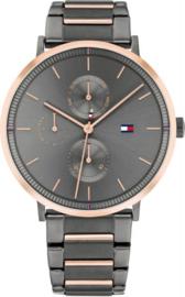 Tommy Hilfiger Dames Horloge met Roségoudkleurige Rand